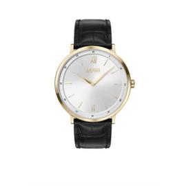 Hugo Boss Horloge Essential Goudkleurig Horloge met Zwarte Band van Boss