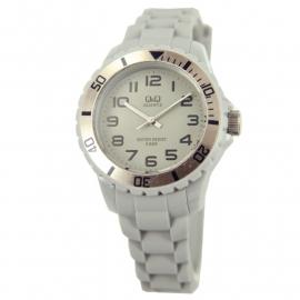 Q&Q Horloge met een horlogeband van grijs rubber
