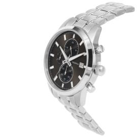 Titanium Chrono Heren Horloge met Zwarte Wijzerplaat van Prisma