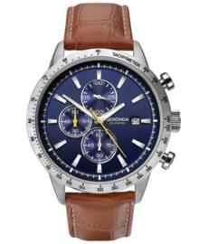Sekonda Heren Chronograaf Horloge met Blauwe Wijzerplaat