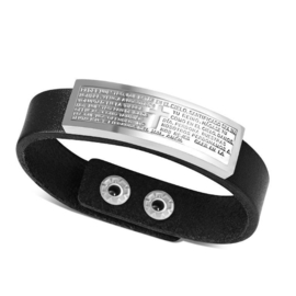Padre Nuestro Edelstalen Kruis Armband