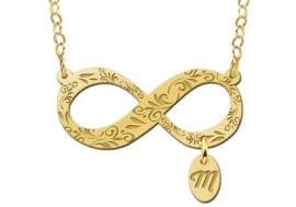 Names4ever Gouden Infinity Hanger met Letterhanger