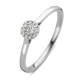 Excellent Jewelry Witgouden Ring met 0,20 crt. Briljant