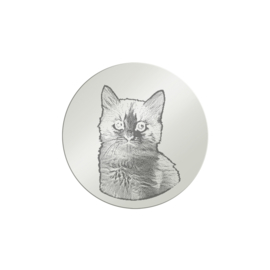 Kleine Zilveren Foto Gravure Munt van MY iMenso