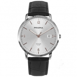Prisma Heren P.1647 Horloge Edelstaal Saffierglas 5 ATM