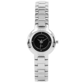 Prisma Zilverkleurig Classic Dames Horloge met Schakelband