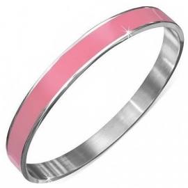 Bangle armband met roze emaille SKU74691