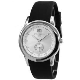 Prisma Zilverkleurig Heren Horloge met Zilverkleurige Wijzerplaat