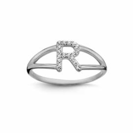 Nomelli Iniziali-Foggia Ring van Zilver