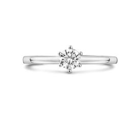 Witgouden Ring Diamant 0,25 ct H SI