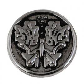 Drukknoop armband / Vlinder munt-drukker BEC0054