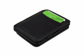 Luxe Zwarte Magic Wallet RFID Portemonnee van Hunterson