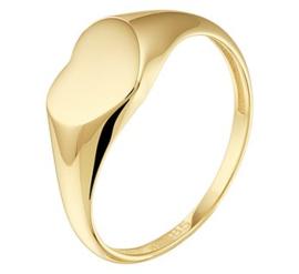 14k Gouden Graveer Ring met Hartje