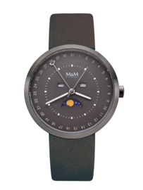 M&M Horloge met Donkergrijze Horlogeband voor Dames