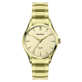 Prisma Goudkleurig Balm Dames Horloge