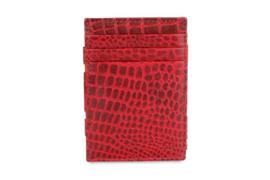 Croco Burgundy Magic Wallet van Essenziale Garzini