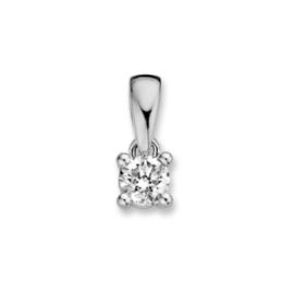 Excellent Jewelry Witgouden Hanger met 0,10 crt. Briljant