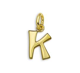 Gouden Letter Bedel Hanger – K