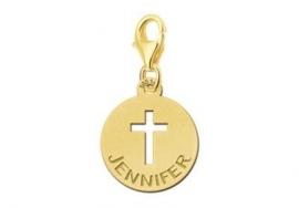 Names4ever Gouden Kruis Bedel met Naam