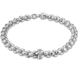 Witgouden Schakelarmband met Diamanten voor Dames