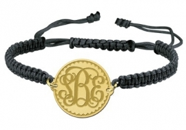 Gouden Solide Monogram Armband GNA09 > Names4ever