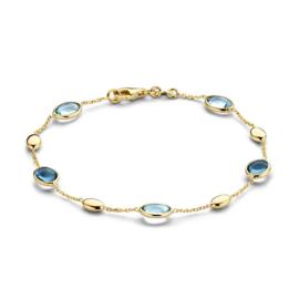 Excellent Jewelry Geelgouden Armband met Edelstenen Decoratie