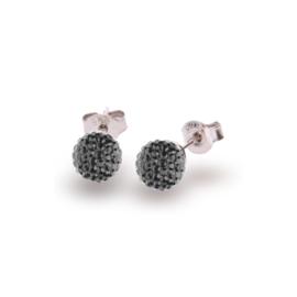 Donkergroene Pavé Swarovski Oorstekers van Spark Jewelry
