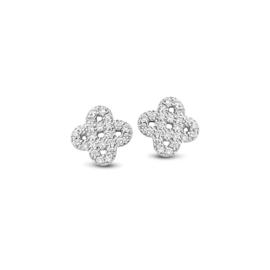 Excellent Jewelry Witgouden Oorstekers met Diamanten