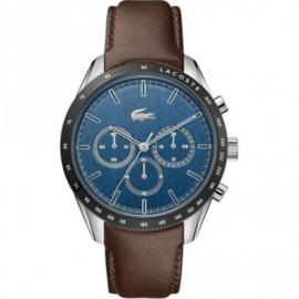 Zilverkleurig Boston Heren Horloge met Blauwe Wijzerplaat van Lacoste