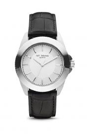 Compleet MY iMenso Quartz Horloge Zilver + Leren band