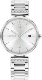 Tommy Hilfiger Zilverkleurig Aria Horloge voor Dames