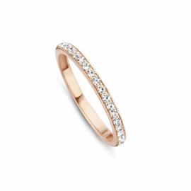Roségouden Ring van MY iMenso Gold met Kleurloze Zirkonia's