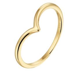 Gouden V-vormige Ring voor Dames