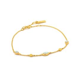Goudkleurige Opal Colour Bracelet van Ania Haie
