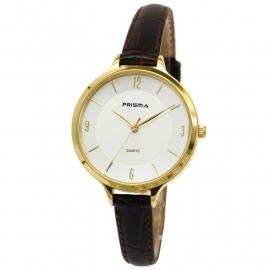 Prisma Dames Horloge P.8392 Bruin lederen Horlogeband