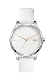Lacoste Nikita Dames Horloge met Witte Silicone Horlogeband