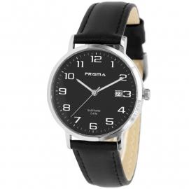 Prisma Horloge 1742 Heren Edelstaal met Datum en Saffierglas