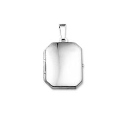 Achthoekig Medaillon van Gepolijst Zilver 10.14515