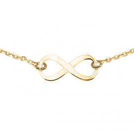 Goudkleurig Collier van Zilver met Infinity Hanger