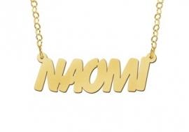 Names4ever Naomi Stijl Gouden Naamketting