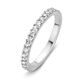 Excellent Jewelry Brede Witgouden Ring met Briljanten 0,35 crt.