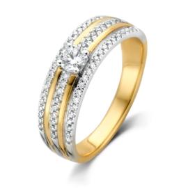 Excellent Jewelry Bicolor Dames Ring met Diamanten