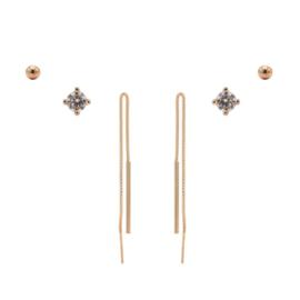 Karma Jewelry – Zesdelige Pretty Pull Earparty Set - Rosé
