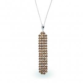 Goudkleurige Swarovski Ketting van Spark Jewelry