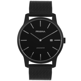 Prisma Leeghwater Heren Horloge – Zwart