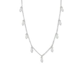 Zilveren Dames Collier met Veren 1,3 mm 40 + 4 cm