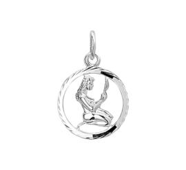 Ronde Maagd Sterrenbeeld Bedel van Zilver 10.14507