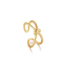 Ania Haie Forget me Knot Goudkleurige X-Ring van Zilver