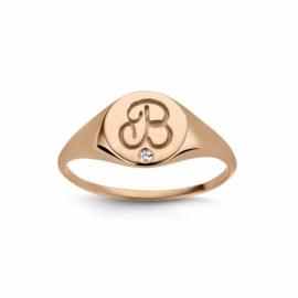 Nomelli Iniziali-Sigillo Ring van Roségoud