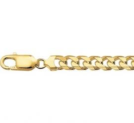 Gouden Geslepen Gourmet Schakelarmband 5,75 mm voor Heren